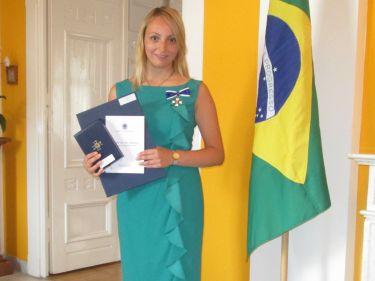 """Julija Bal awarded with the prestigious Ordem Rio Branco """"Ordem de Rio Branco"""""""
