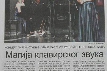 Dnevnik - Magija klavirskog zvuka