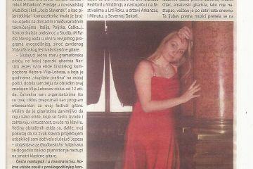 Pijanistkinja Julija Bal za Građanski List
