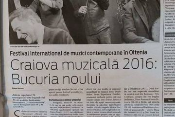 """Craiova Muzicala"" International Festival, the 43rd Contemporary Music Edition"